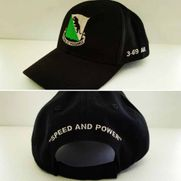 3 69 Embroidered Hat Front and Back